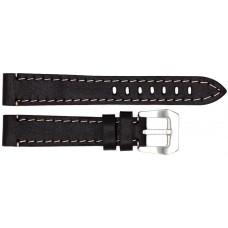 Ремень ASTEL 18 мм (тёмн.коричневый с бежевой нитью ,застёжка хром)