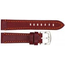 Ремень ASTEL 20 мм (коричневый с оранжевой нитью ,застёжка хром)
