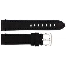Ремень ASTEL 20 мм (чёрный с чёрной нитью ,застёжка хром)