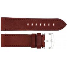 Ремень ASTEL 24 мм (коричневый  ,застёжка хром)