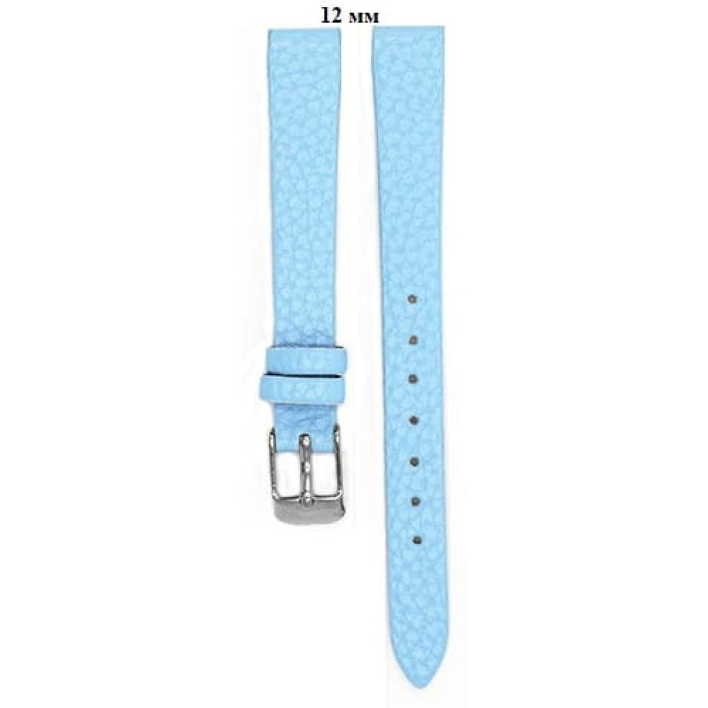 Ремень 12 мм (голубой ,застёжка хром)