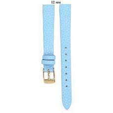Ремень 12 мм (голубой ,застёжка желтая)