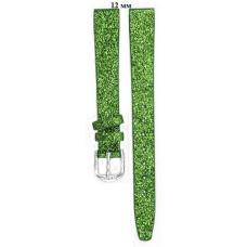 Ремень 12 мм (зелёный с блёсками ,застёжка хром)