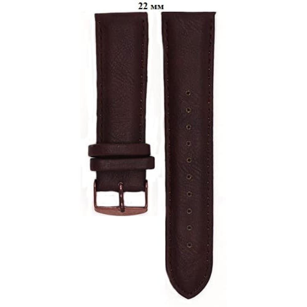 Ремень 22 мм (коричневый ,застёжка розовая)-1