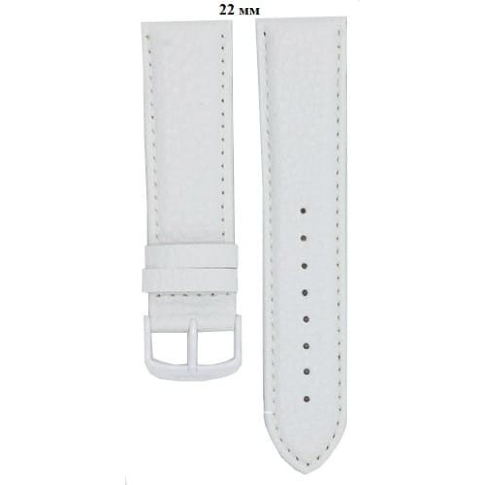 Ремень 24 мм (белый ,застёжка белая)