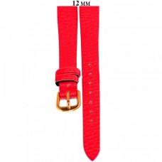 Ремень 12 мм (красный ,застёжка желтая)
