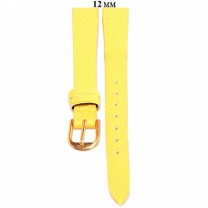 Ремень 12 мм (желтый ,застёжка желтая)