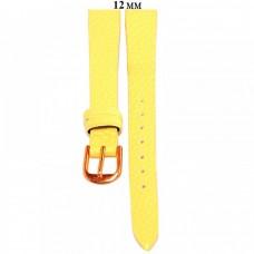 Ремень 12 мм (желтый ,застёжка розовая)