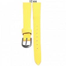 Ремень 12 мм (желтый ,застёжка хром)