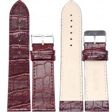 Ремень ASA 24 мм (коричневый ,застёжка хром)